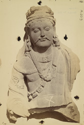 Statue of a king or Bodhisattva from the (?) Mian Khan, Peshawar District